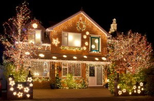 Using Indoor Christmas Lights Outdoors