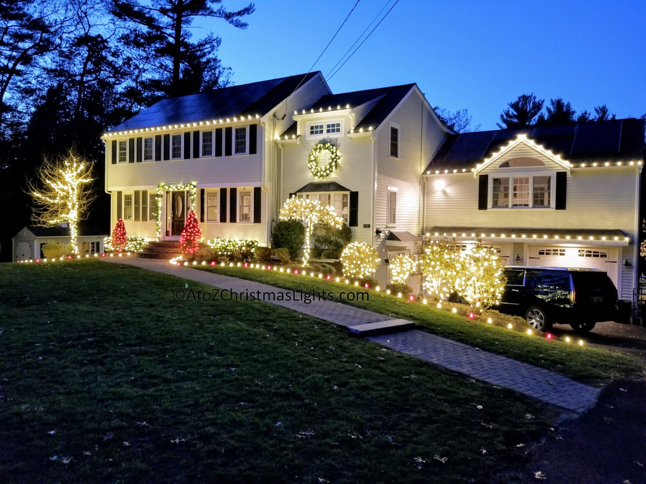 Holiday Lighting in the South Shore MA Area