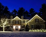 Holiday Light Installation on Crestwood Rd. in Newton, MA